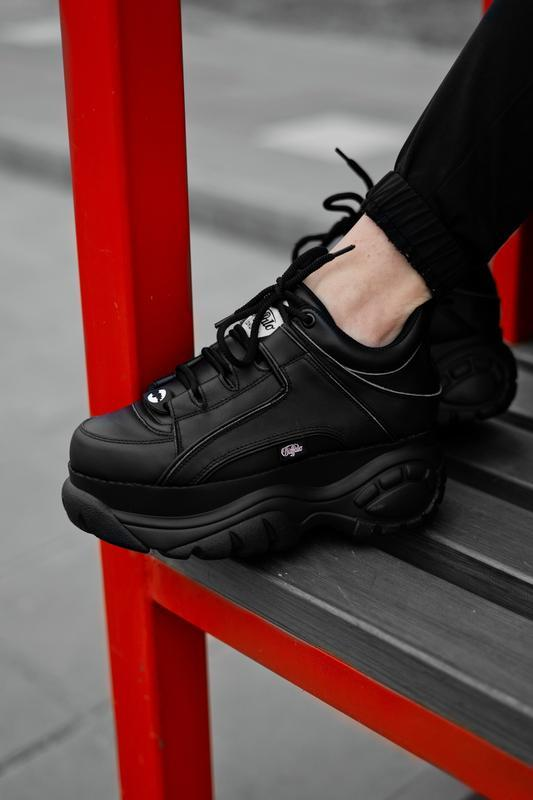 😊buffalo london black🤗 женские кроссовки баффало чёрные весна ...