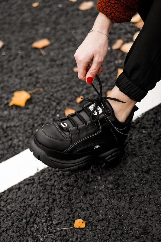 😊buffalo london black🤗 женские кроссовки баффало чёрные весна ... - Фото 5