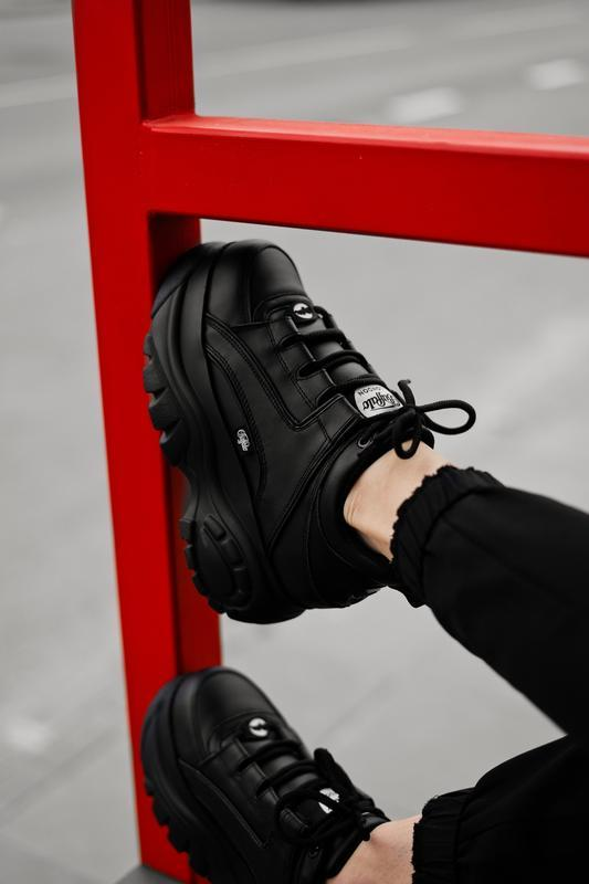 😊buffalo london black🤗 женские кроссовки баффало чёрные весна ... - Фото 7