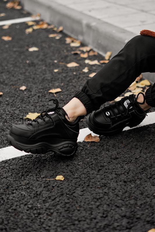 😊buffalo london black🤗 женские кроссовки баффало чёрные весна ... - Фото 8