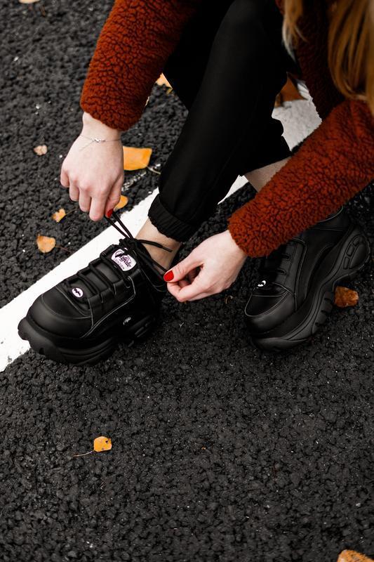 😊buffalo london black🤗 женские кроссовки баффало чёрные весна ... - Фото 10