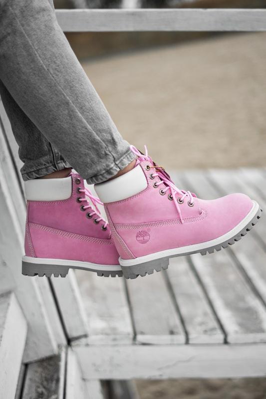 😊timberland pink 🤗 женские ботинки тимберленд розовые термо ос...