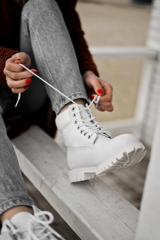 😊timberland white 🤗 женские ботинки тимберленд белые термо осе... - Фото 3