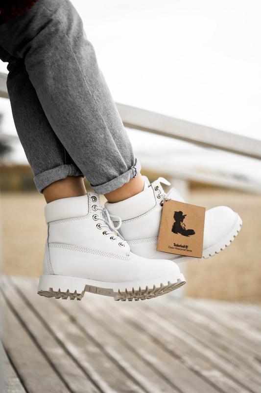 😊timberland white 🤗 женские ботинки тимберленд белые термо осе... - Фото 4