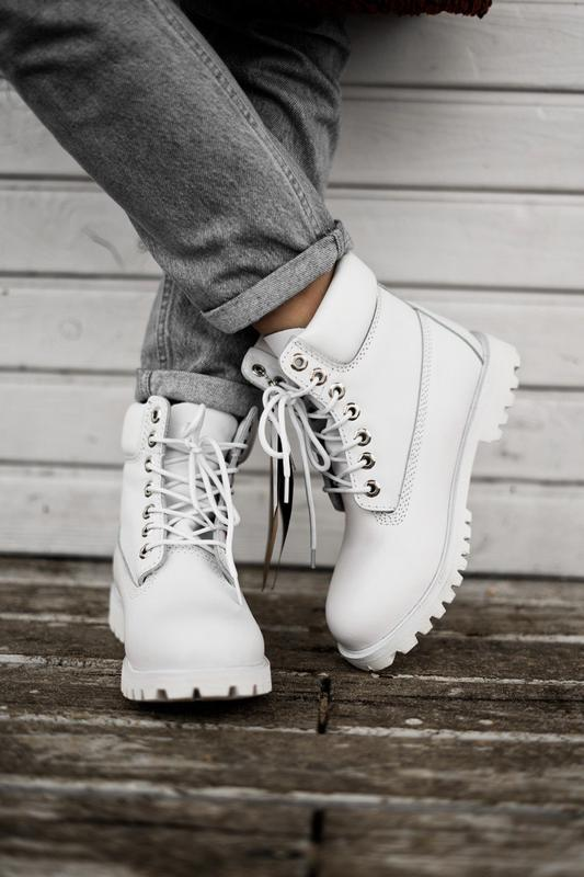 😊timberland white 🤗 женские ботинки тимберленд белые термо осе... - Фото 7