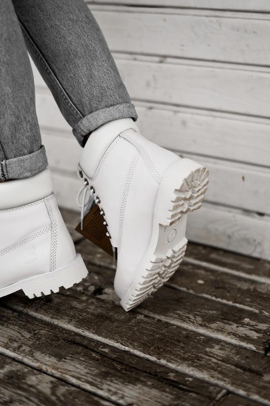 😊timberland white 🤗 женские ботинки тимберленд белые термо осе... - Фото 8