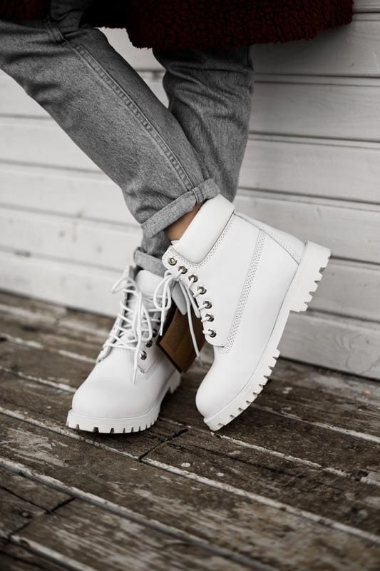 😊timberland white 🤗 женские ботинки тимберленд белые термо осе... - Фото 9