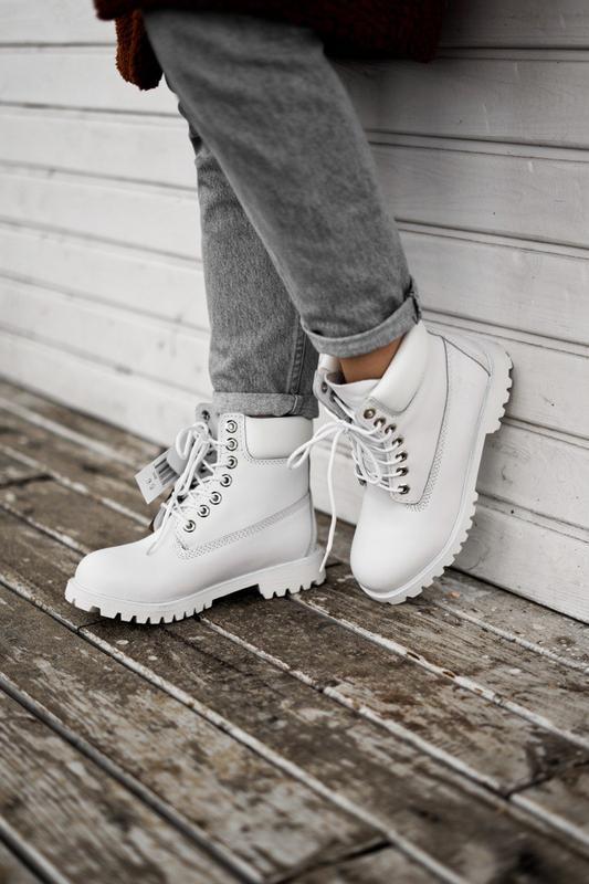 😊timberland white 🤗 женские ботинки тимберленд белые термо осе... - Фото 10