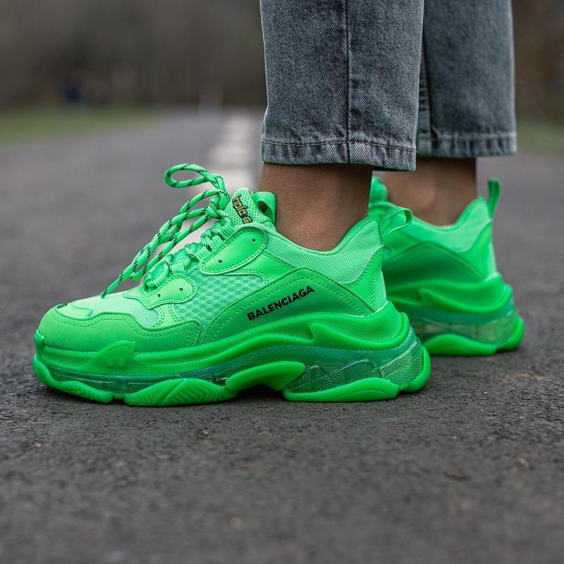 😊balenciaga triple s neon green🤗 женские кроссовки весна лето ...