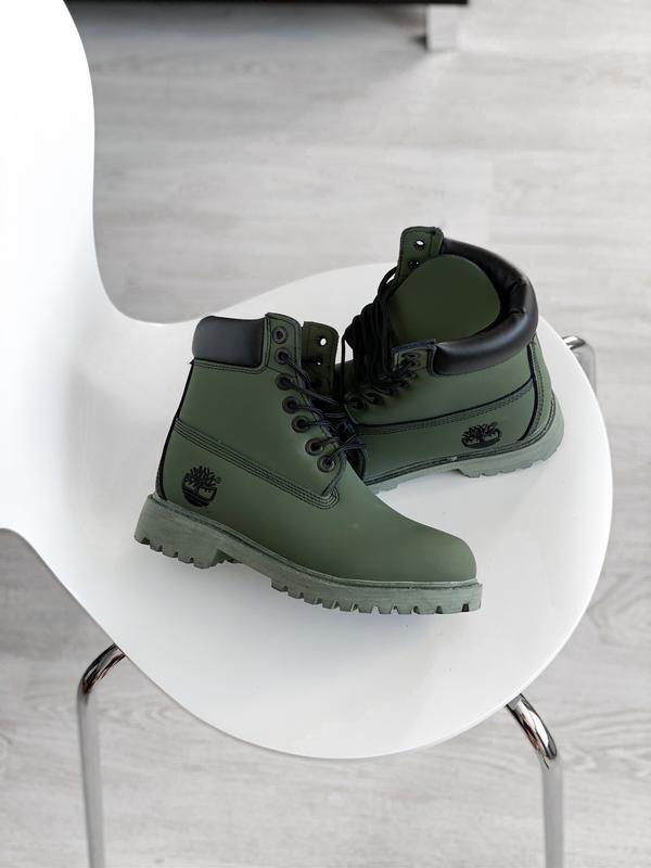 😊timberand green🤗 женские ботинки тимберленд рыжие термо