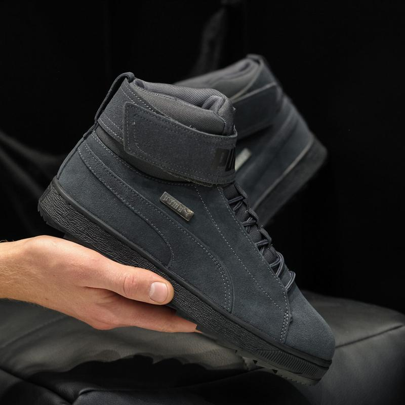 😊puma suede winter высокие🤗 мужские кроссовки пума высокие зимние
