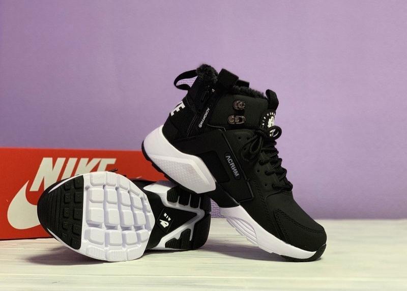 😊nike air huarache x acronym black white🤗 женские кроссовки с ... - Фото 4