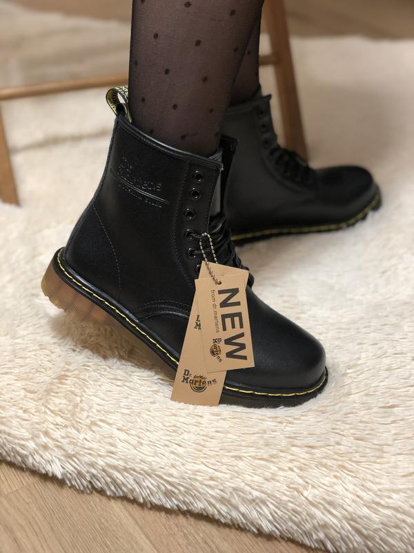 😊dr. martens 1460 black fur🤗 женские зимние ботинки с мехом ма... - Фото 2