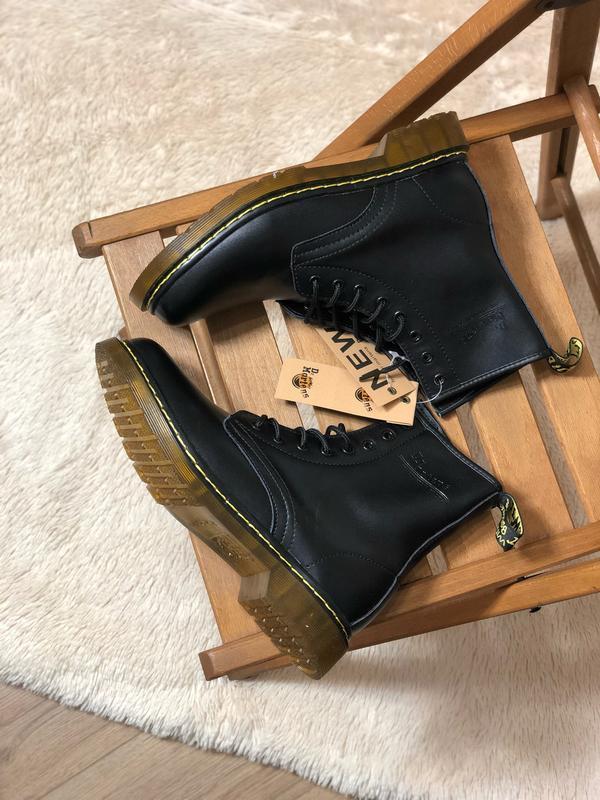 😊dr. martens 1460 black fur🤗 женские зимние ботинки с мехом ма... - Фото 3