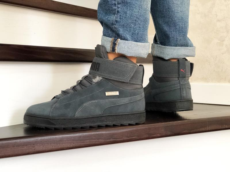 😊puma suede high winter🤗 мужские зимние кроссовки с мехом высо... - Фото 4