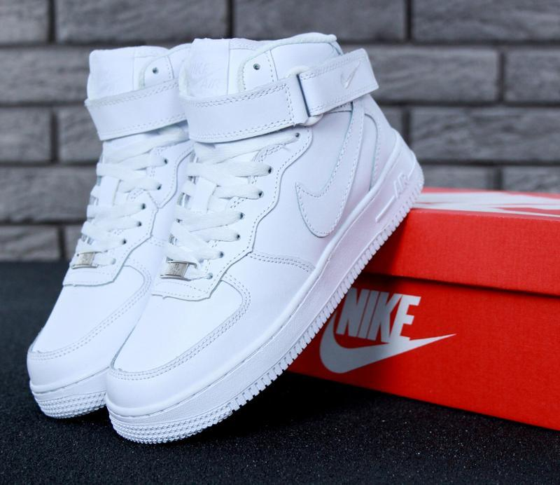 😊nike air force 1 high winter🤗 женские кроссовки найк белые с ...