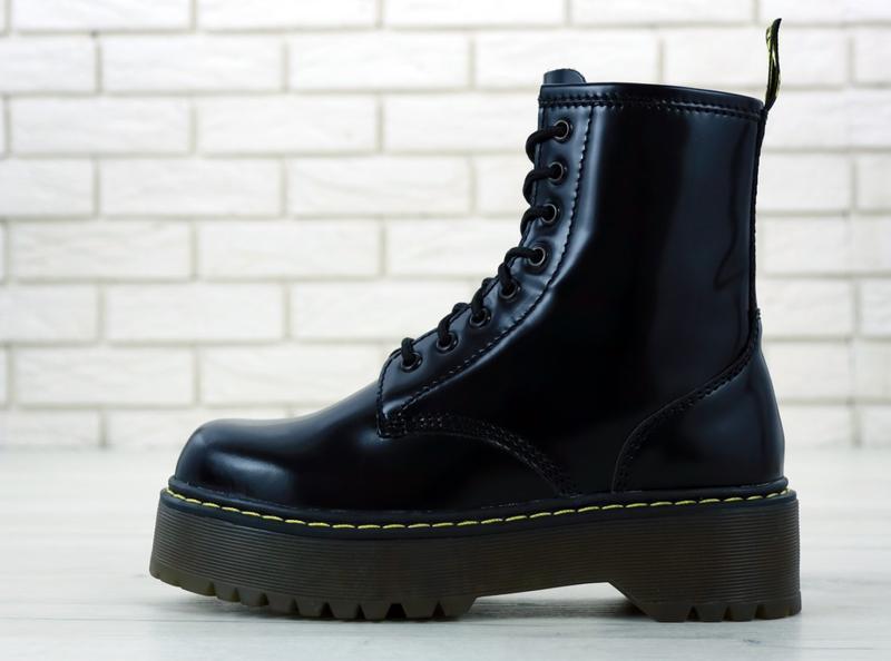 😊dr. martens jadon black🤗 женские ботинки мартинс демисезон