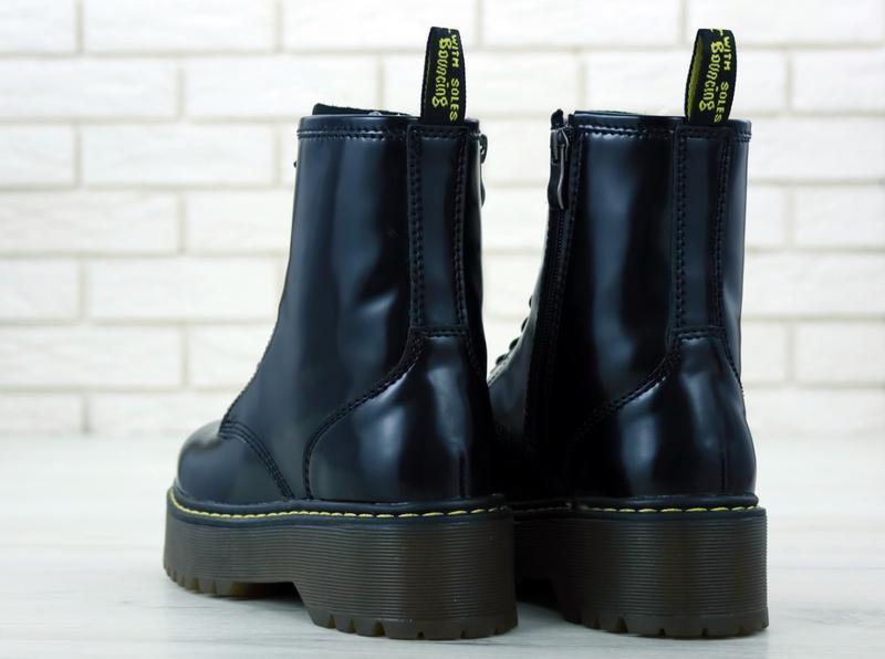 😊dr. martens jadon black🤗 женские ботинки мартинс демисезон - Фото 2