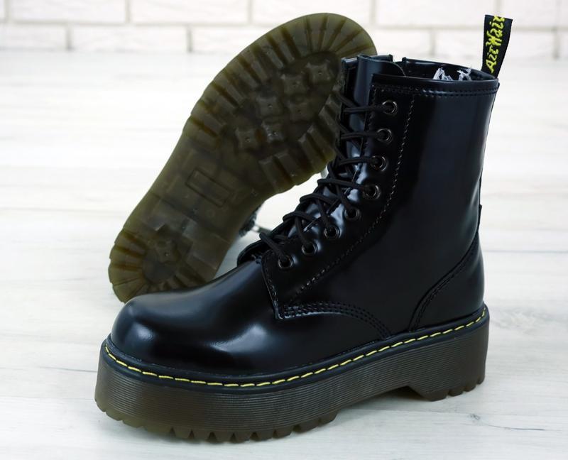 😊dr. martens jadon black🤗 женские ботинки мартинс демисезон - Фото 4