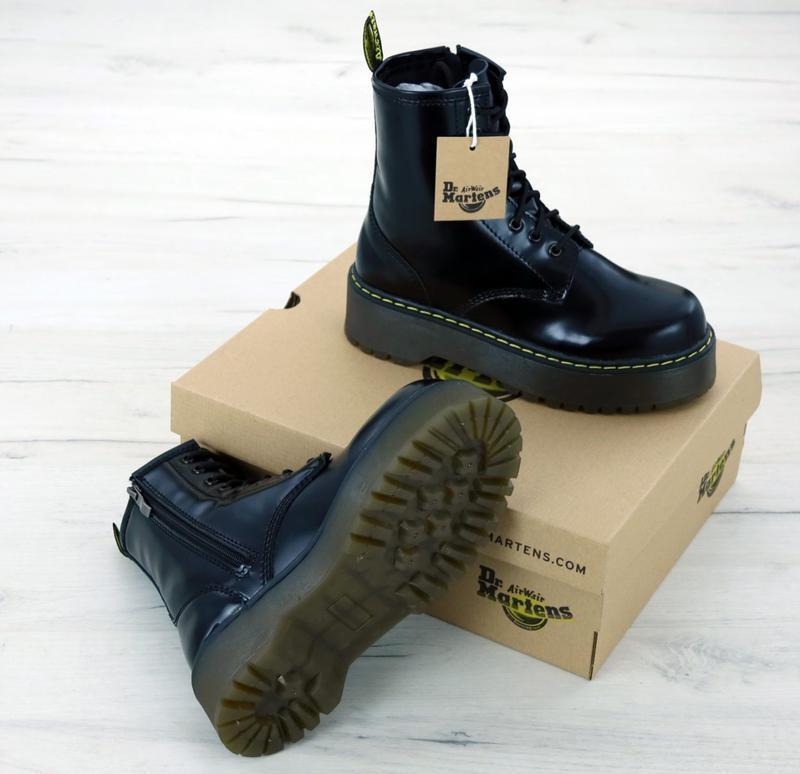 😊dr. martens jadon black🤗 женские ботинки мартинс демисезон - Фото 5