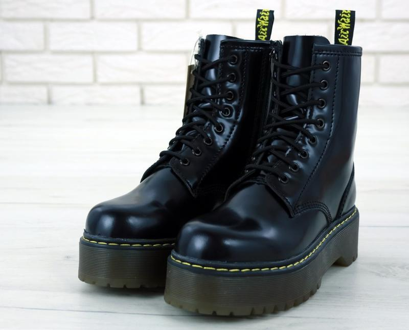 😊dr. martens jadon black🤗 женские ботинки мартинс демисезон - Фото 6