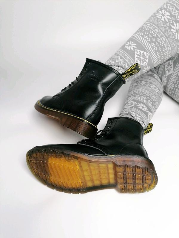 😊dr. martens 1460 black fur🤗 женские зимние ботинки мартинс чё... - Фото 6