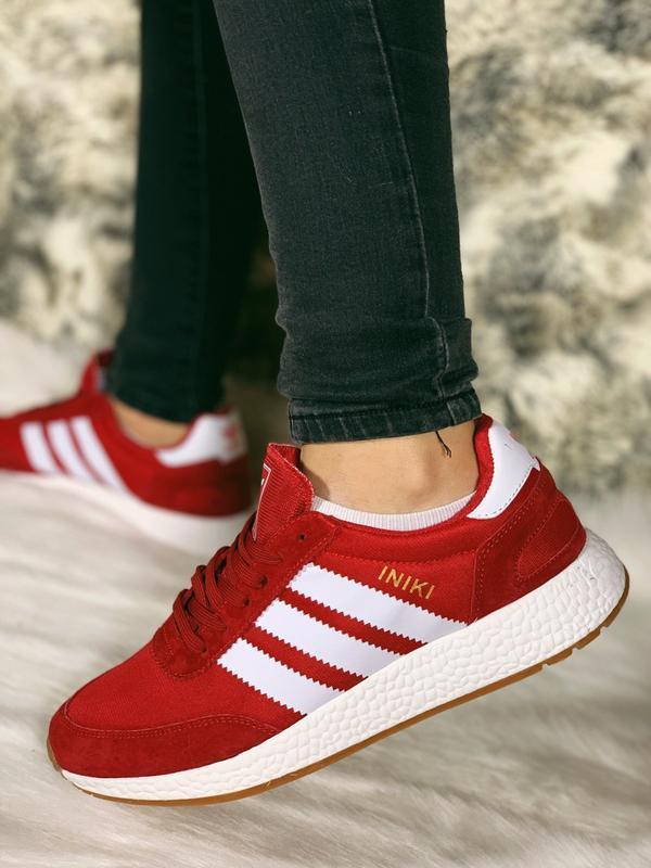 Распродажа! 😊adidas iniki red красные🤗 мужские кроссовки красн...