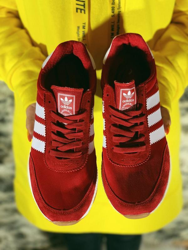 Распродажа! 😊adidas iniki red красные🤗 мужские кроссовки красн... - Фото 2