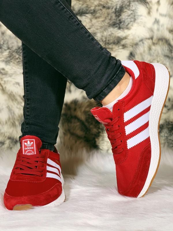 Распродажа! 😊adidas iniki red красные🤗 мужские кроссовки красн... - Фото 4