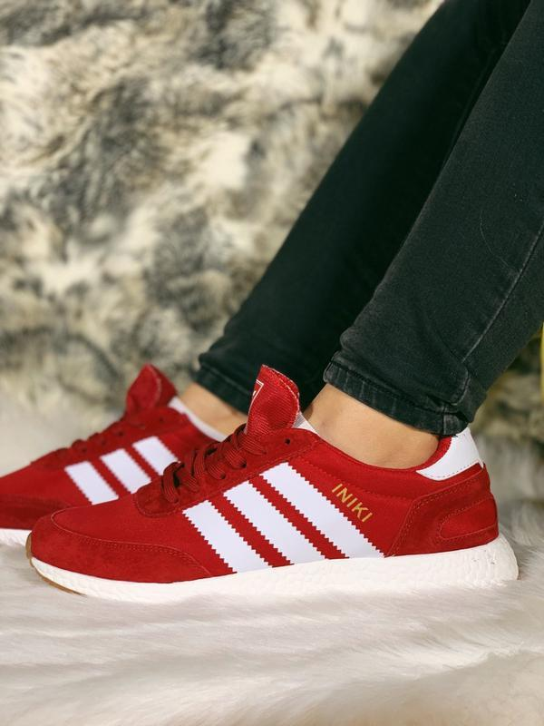 Распродажа! 😊adidas iniki red красные🤗 мужские кроссовки красн... - Фото 7