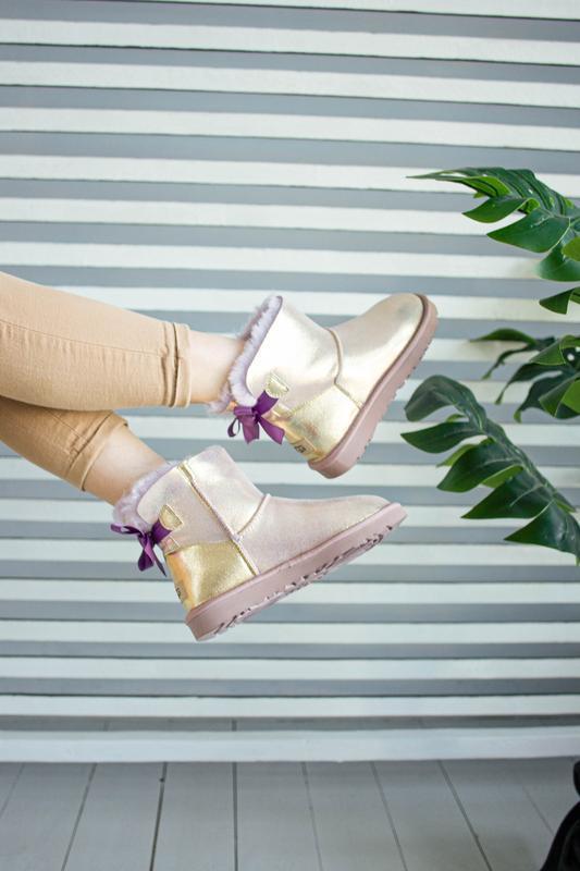 😊ugg bailey bow mini 🤗 натуральные женские зимние сапоги угги ... - Фото 4
