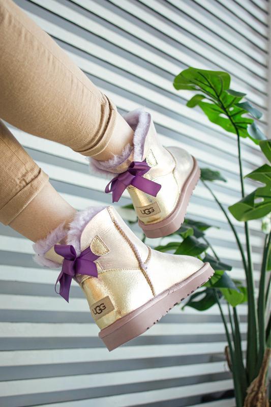 😊ugg bailey bow mini 🤗 натуральные женские зимние сапоги угги ... - Фото 6