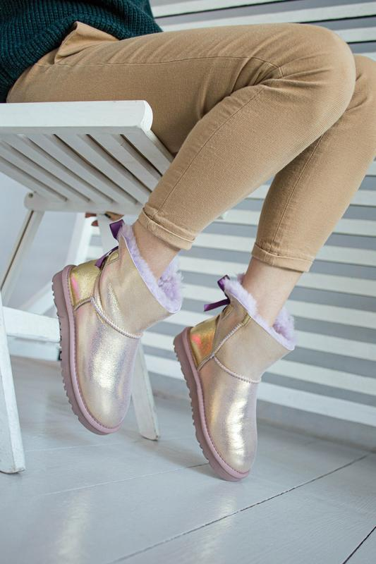 😊ugg bailey bow mini 🤗 натуральные женские зимние сапоги угги ... - Фото 7