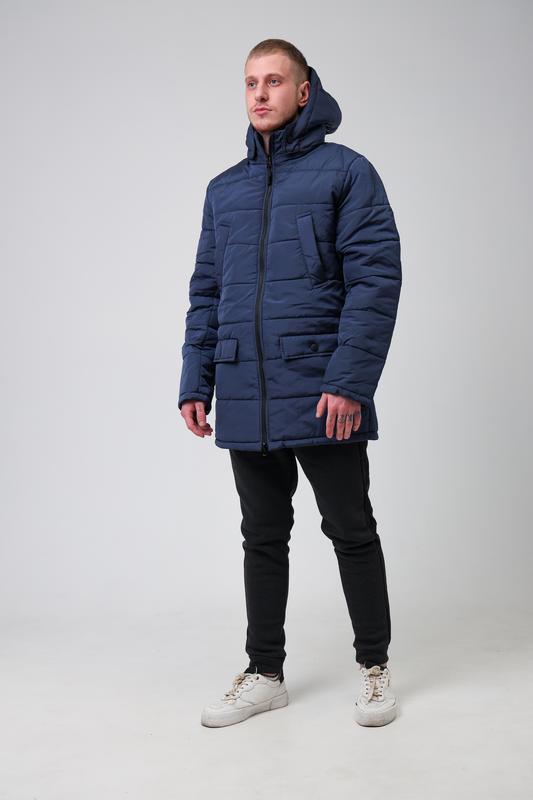 😊куртка мужская🤗мужская зимняя куртка синяя теплая