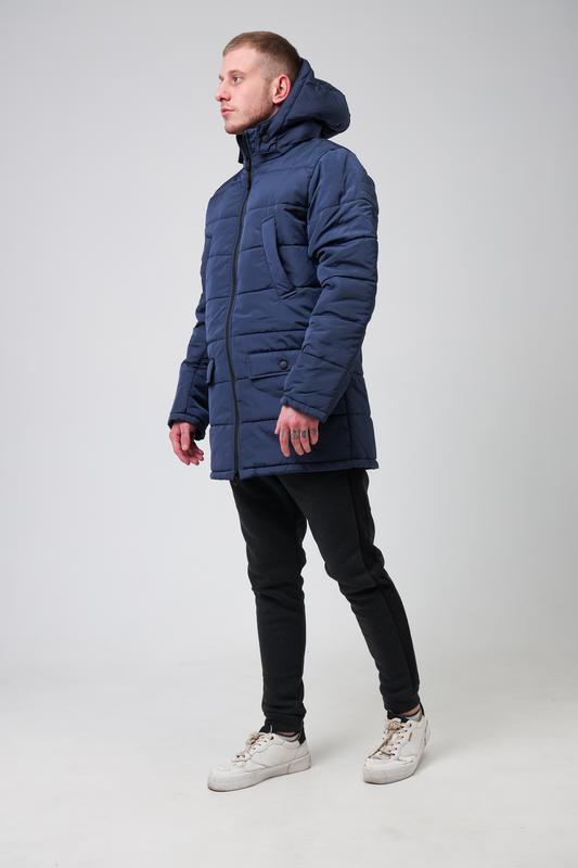 😊куртка мужская🤗мужская зимняя куртка синяя теплая - Фото 5