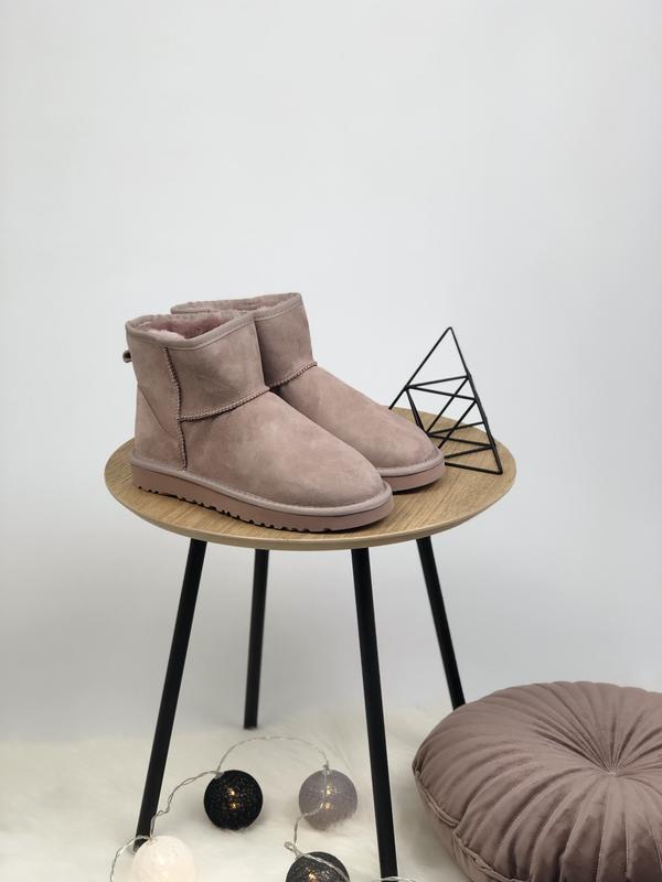 😊ugg classic mini pink розовые🤗 женские зимние угги сапоги зима