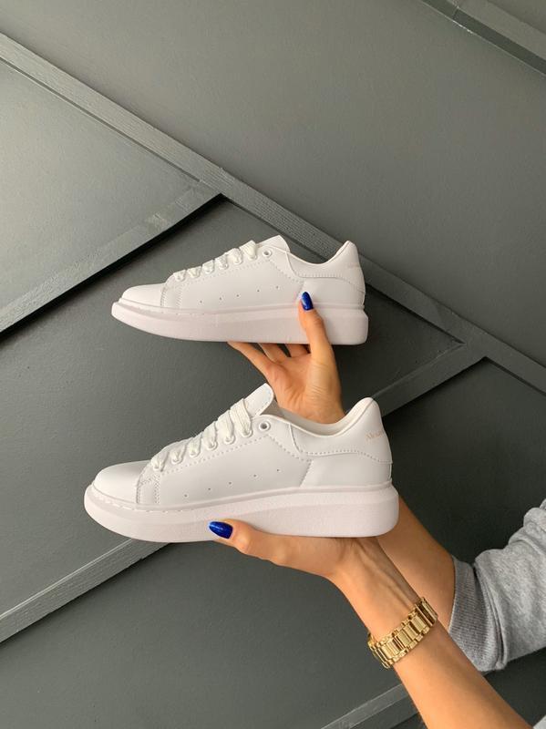 😊alexander mcqueen full white🤗 женские кроссовки маквин белые ...