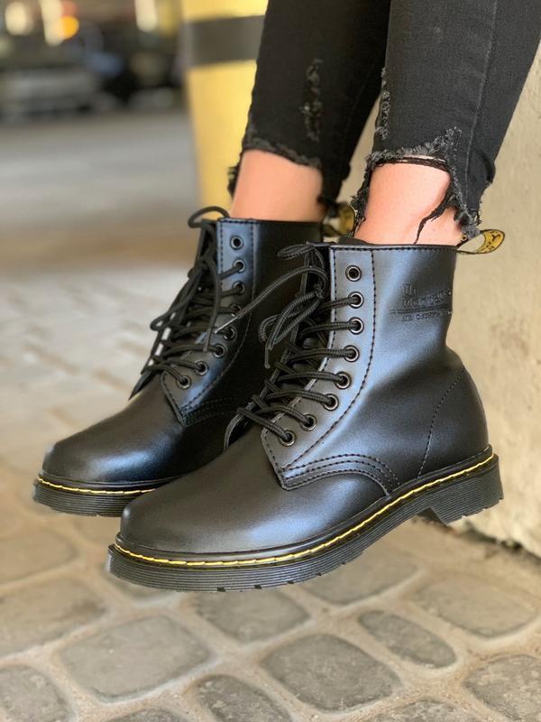 😊dr.martens 1460 classic fur🤗 женские зимние ботинки с мехом м...