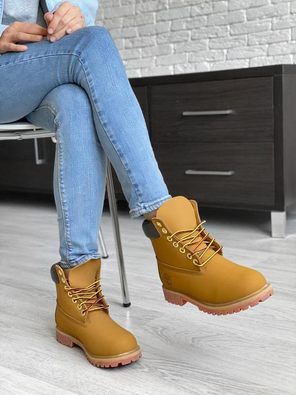 😊timberland fur🤗женские демисезоные ботинки тимберленд с мехом...