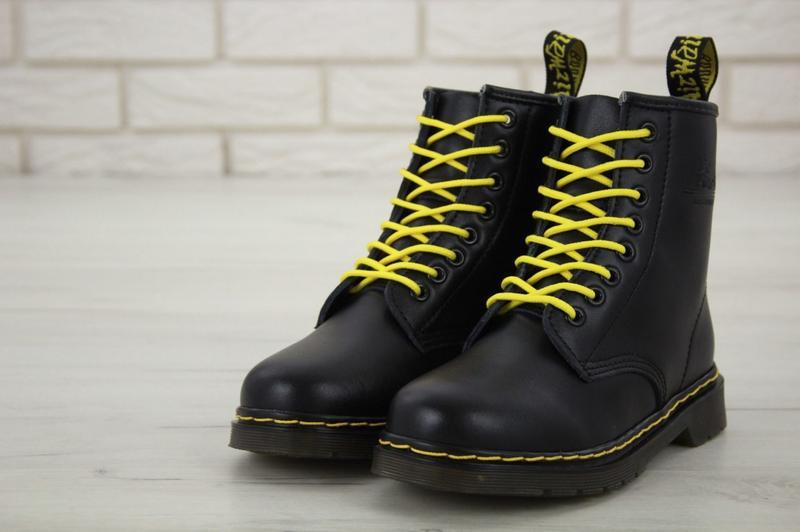 😊dr. martens 1460 black fur🤗 женские зимние ботинки мартинс с ...