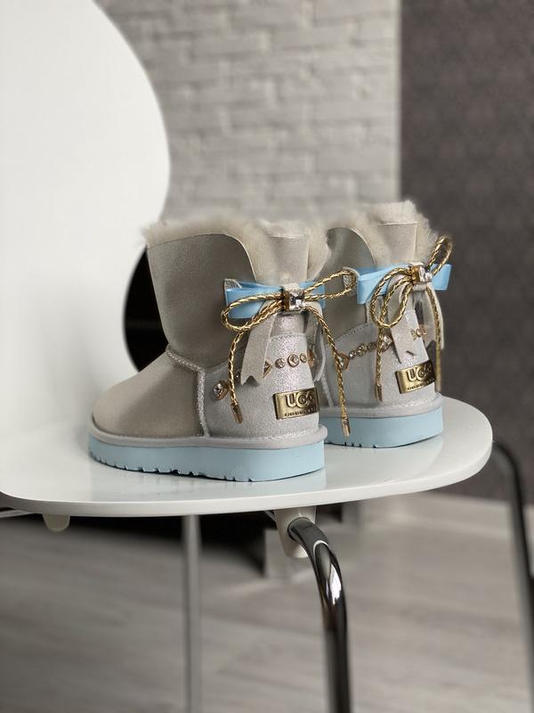 😊ugg bailey bow mini 🤗 женские зимние угги сапоги натуральные ...