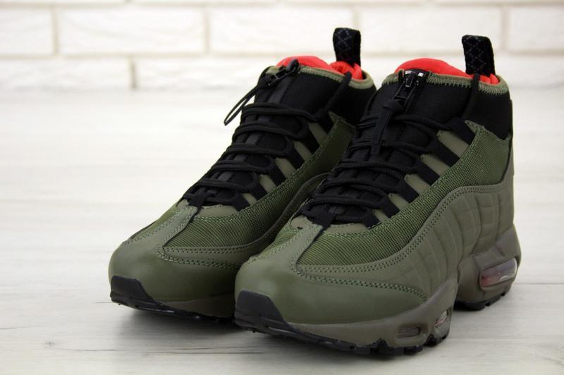 😊nike air max 95 snaekerboot🤗 мужские зимние кроссовки термо зима