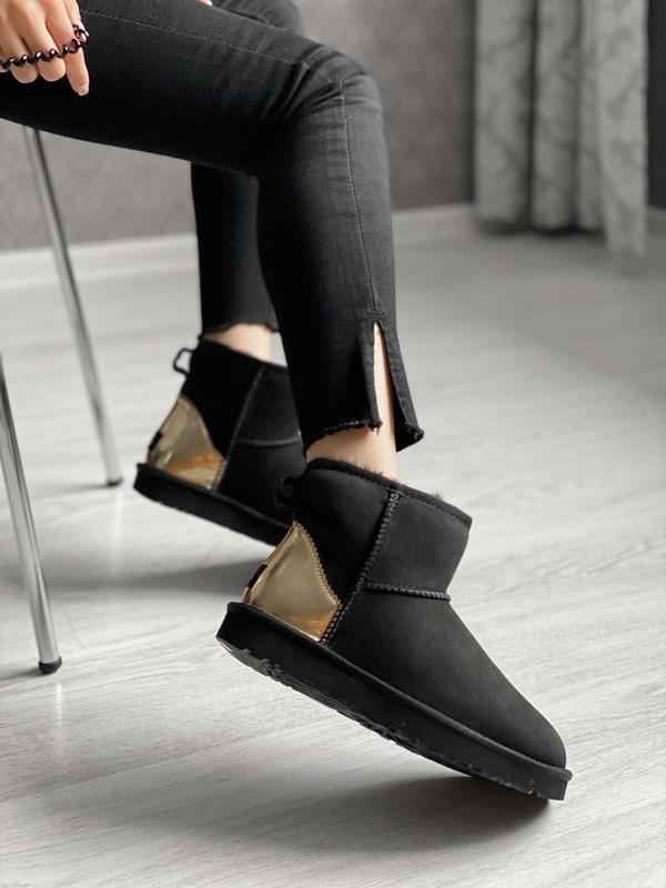 😊ugg classic mini black 🤗 женские зимние сапоги угги теплые на...
