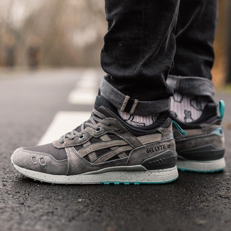 😊asics gey lyte 3 winter grey mint🤗 мужские демисезонные кросс... - Фото 4