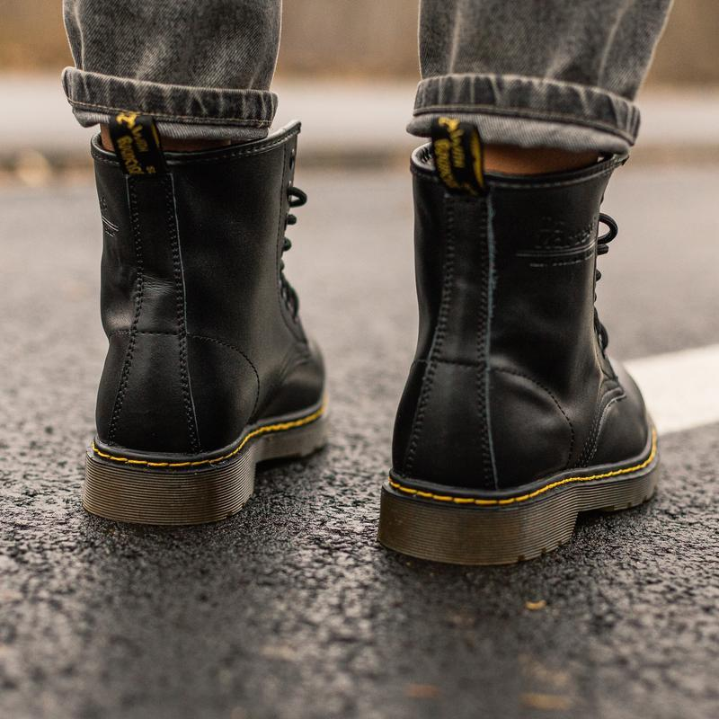 😊dr. martens 1460 black fur🤗 женские зимние ботинки мартинс с ... - Фото 4