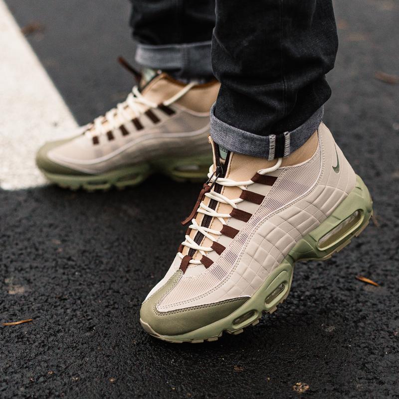 😊nike air max 95 sneakerboot beige🤗 мужские зимние ботинки най...