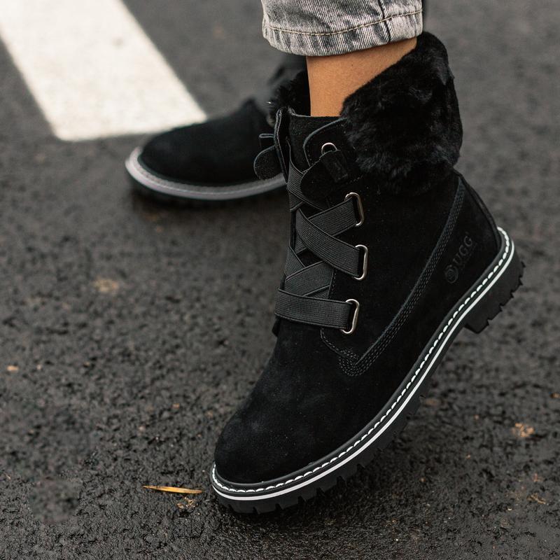 😊ugg boot fur black🤗 женские зимние угги сапоги чёрные теплые ...