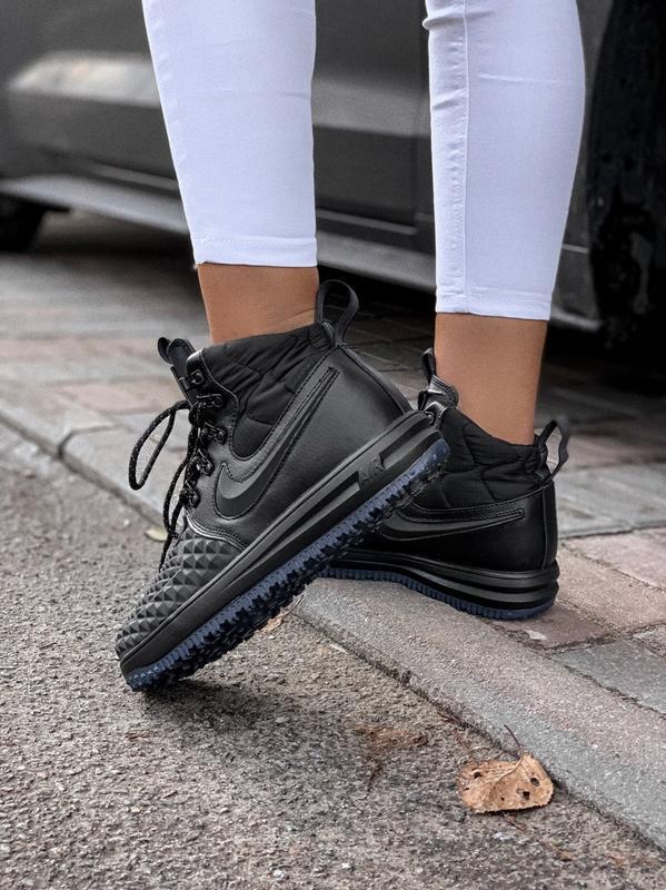 Nike lunar force 1 duckboot black 🤗 женские демисезонные кросс...