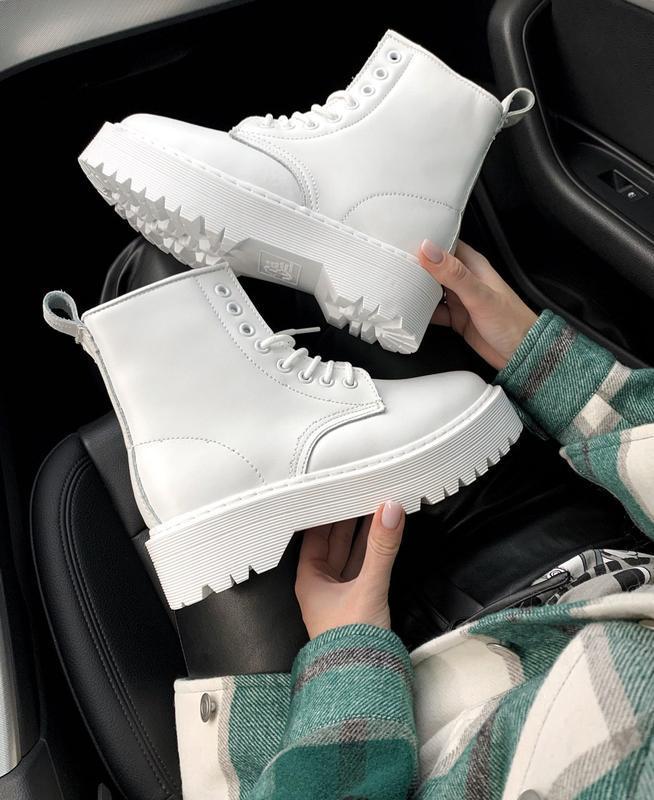 Dr. martens jadon mono white fur 🤗 женские зимние ботинки март...