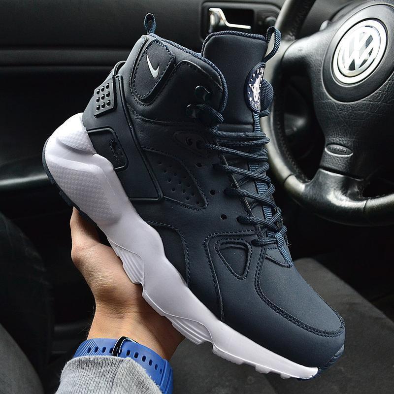 Nike huarache winter blue white 🤗 мужские зимние кроссовки най...